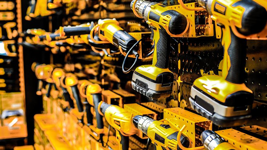 Vendas Materiais Construção cresce 8,5 em julho - Parede furadeiras amarelas