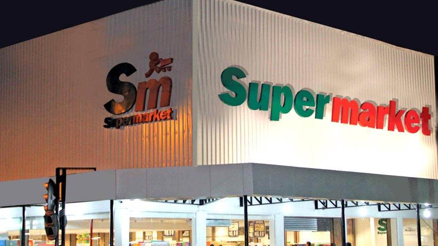 Fachada nova loja rede Supermarket