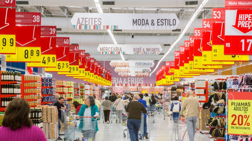 Imagem de um supermercado para a matéria: Vendas em Supermercados aumentam em maio