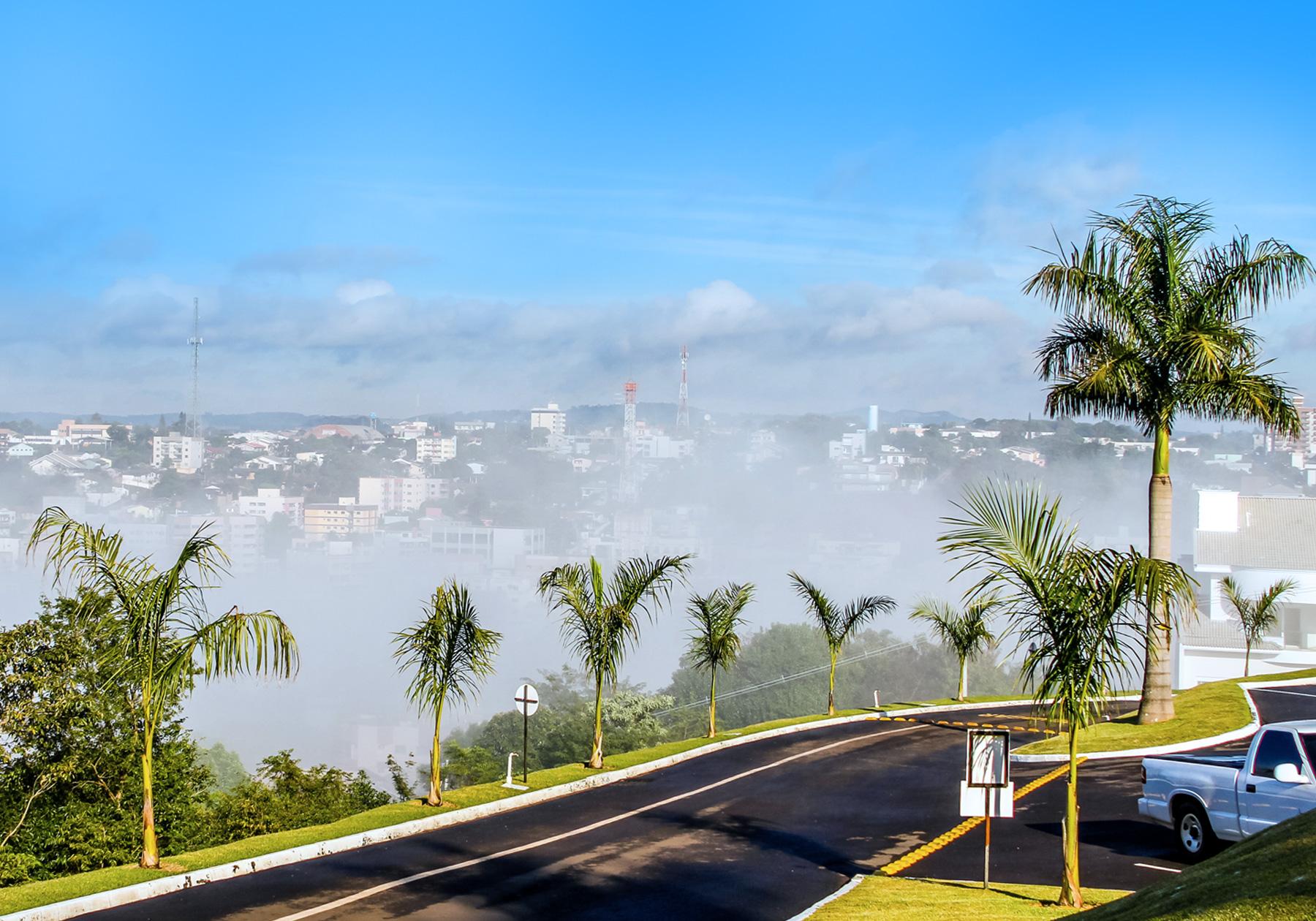 Entrada da sede da CISS, olhando para a Cidade de Dois Vizinhos/PR