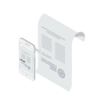 Aplicativo e uma folha de relatório