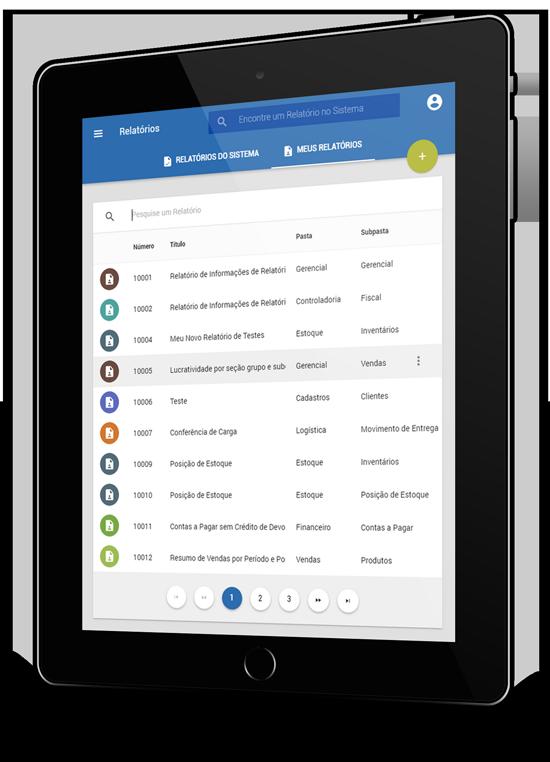 Mockup tela CISSReport - lista de relatórios do usuário